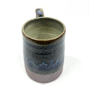 Mug, Large - brown & blue