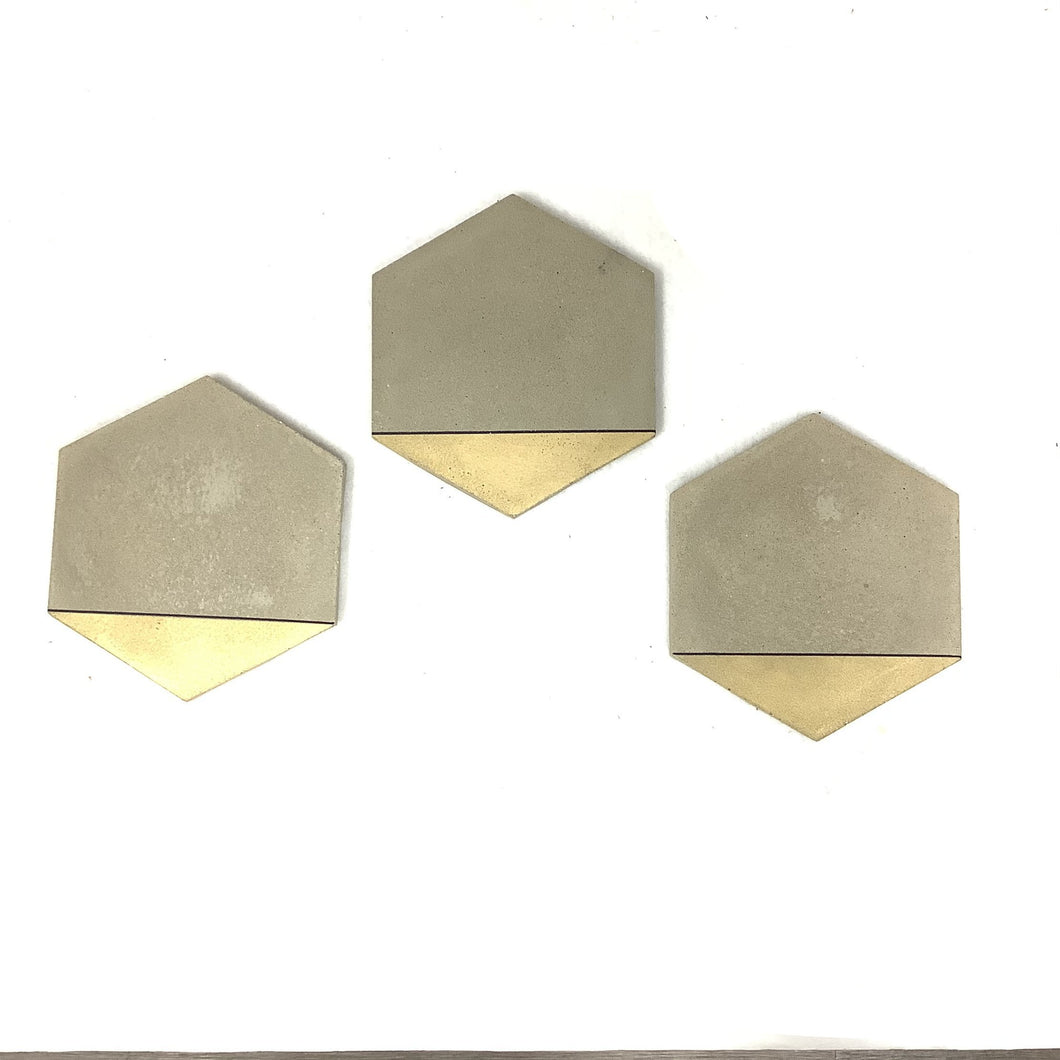 Hexagon Cheeseboard with Gold and Black Trim