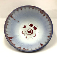 Bowl, Blue, White and Red