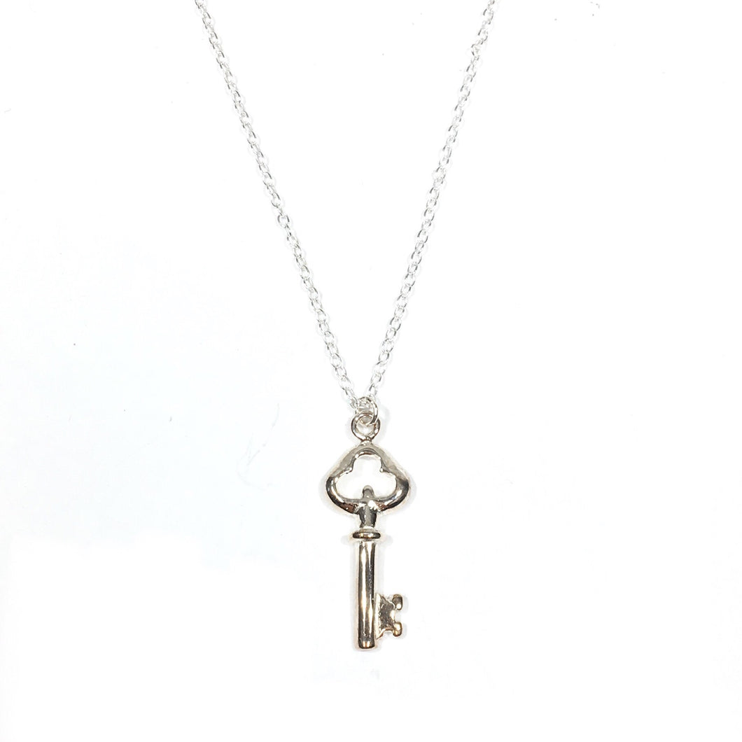 Key Necklace - Sterling Silver