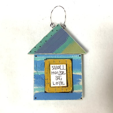 Wood House Plaque - Small House Big Love