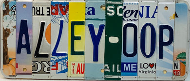 ALLEY-OOP License Plate Sign