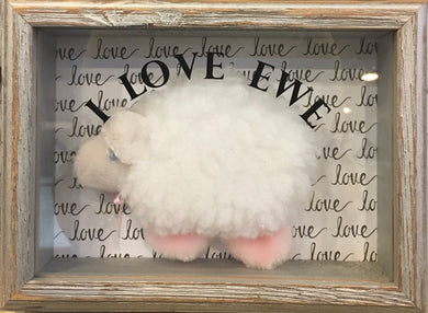 I Love Ewe Shadow Box