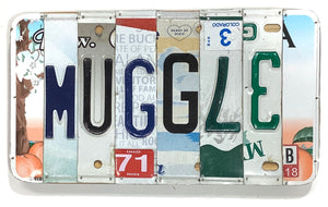 Muggle License Plate Sign