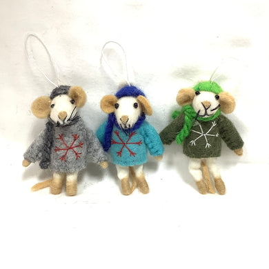 Christmas Felt Animal Ornaments