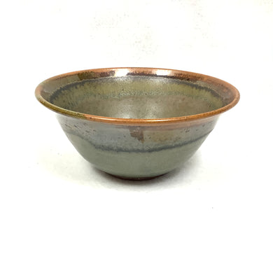 Bowl - green with brown