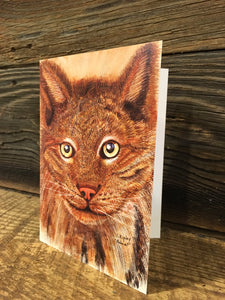 Bobcat Watercolor Card