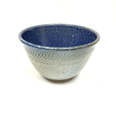 Bowl - blue with tan