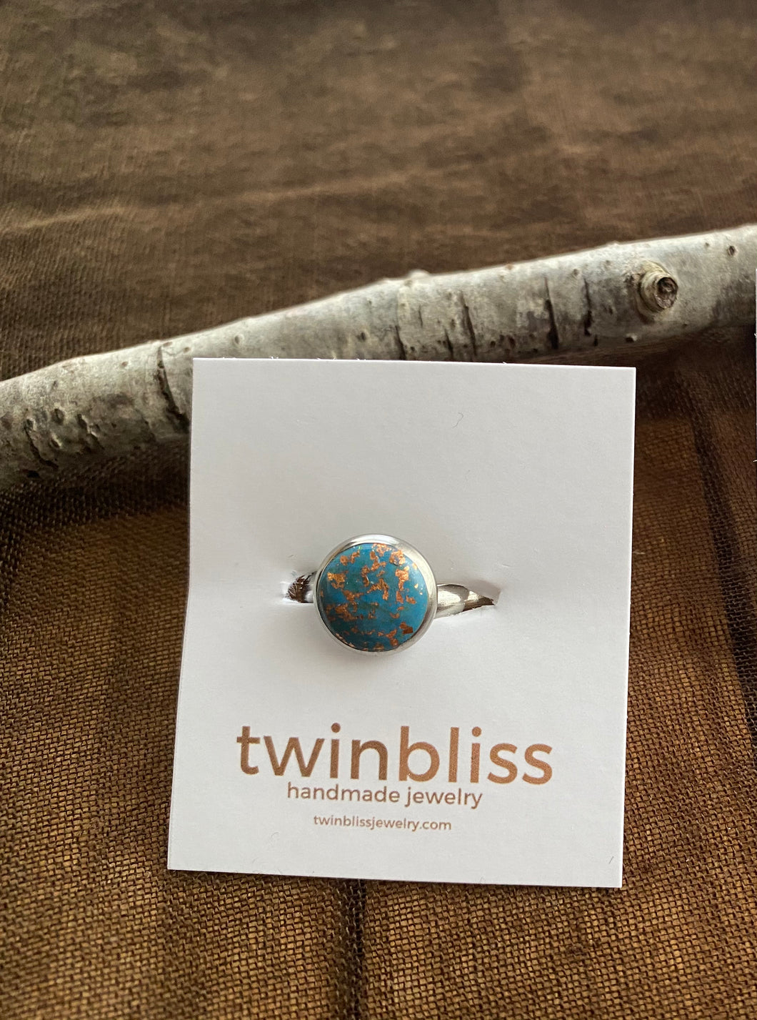 Earth & Sky Artisan Ring - Blue with Copper Accents