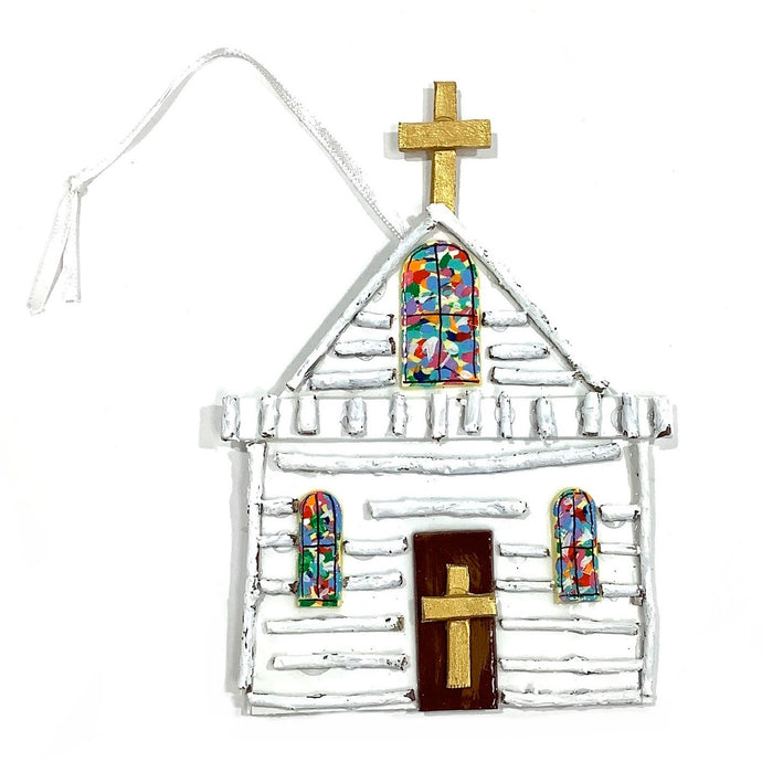 White Church Ornament