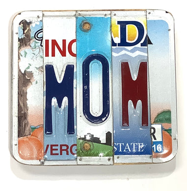 Mom License Plate Sign
