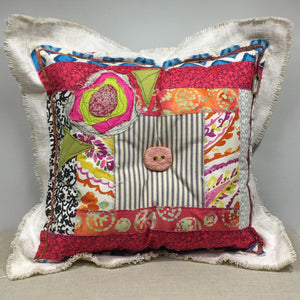 Lolly Pillow - square with button 1
