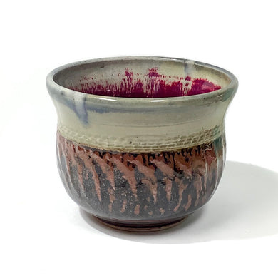 Bowl - Black and Brown with Magenta Interior