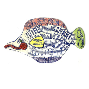Ceramic Fish - You Can't Teach a Pig