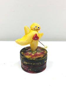Clay Sculpture, Surprise Box, Yellow Figure