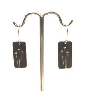 Oxidized Sterling Earrings - 3 Dandelion