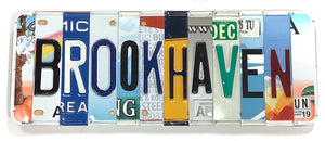 Brookhaven License Plate Sign