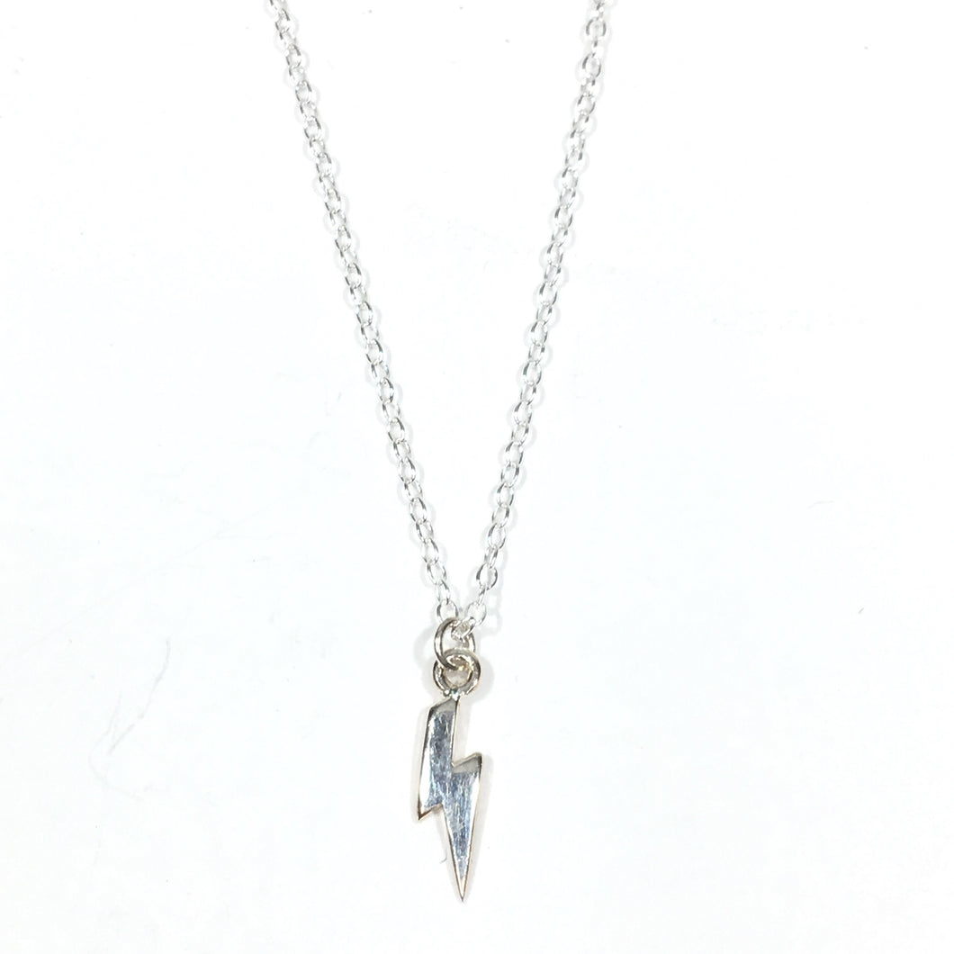Lightning Bolt Necklace - Sterling Silver