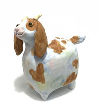 White and Brown Ceramic Goat