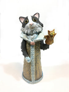 Pussy Cat with Owl Puppet Sculpture