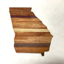 Georgia Shaped Multi Tone Wood Cutting Board
