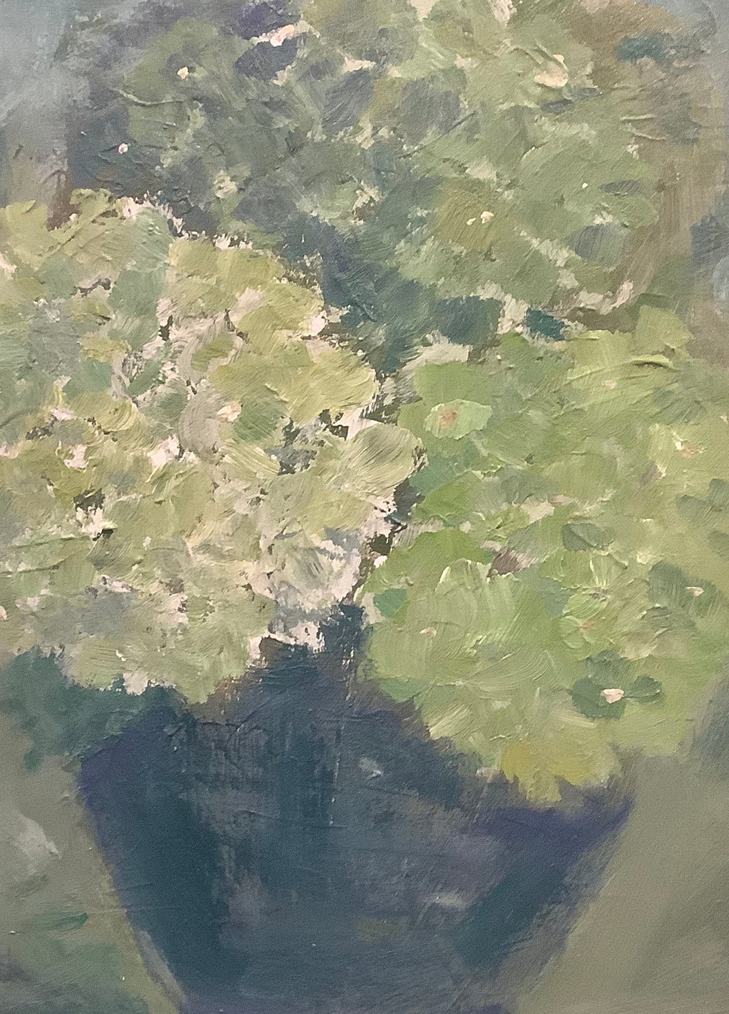 Hydrangeas in Green, Framed
