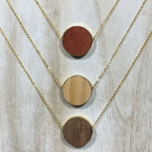 Wood Diffuser Necklace - Gold Circle
