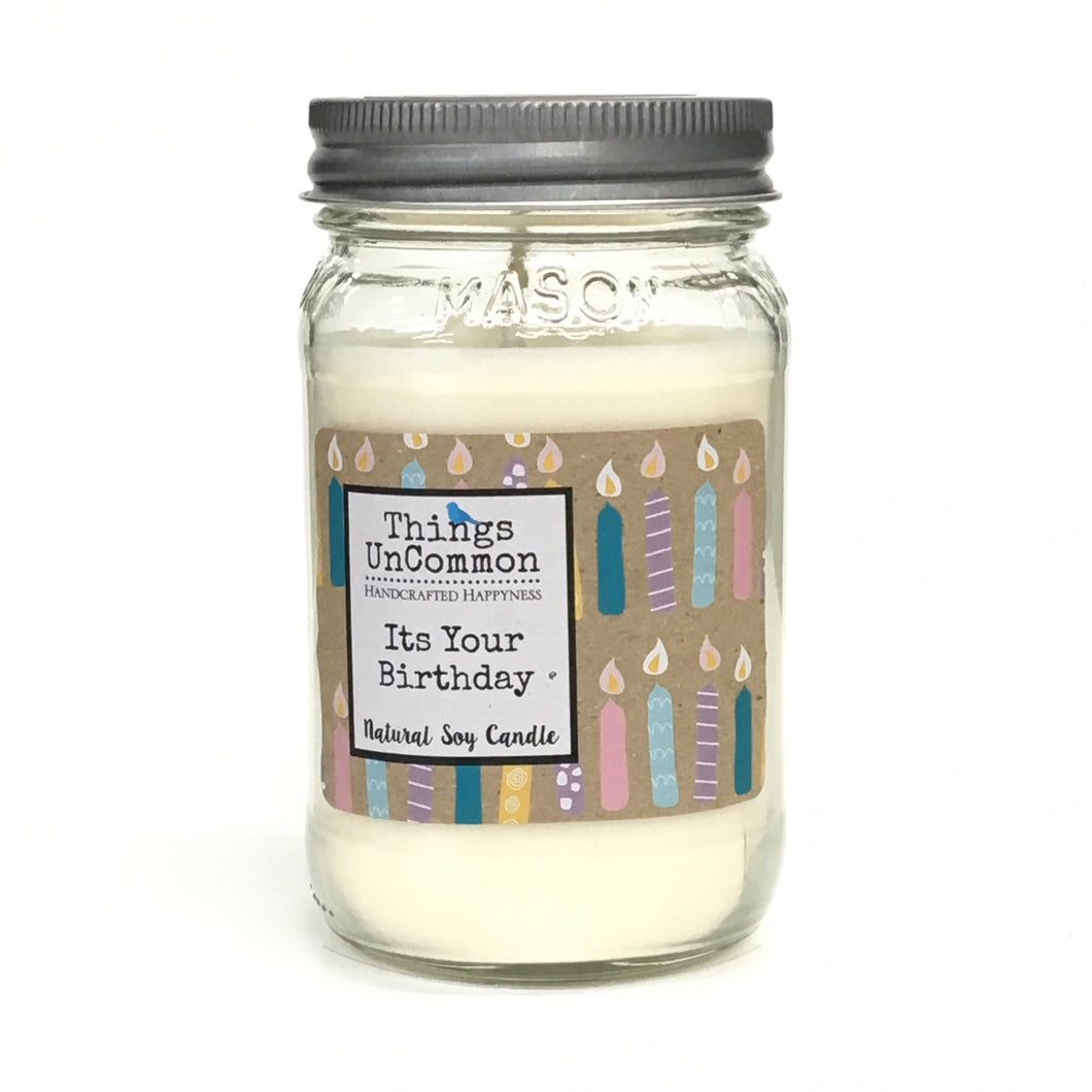 Modern Mason Candle - It's Your Birthday
