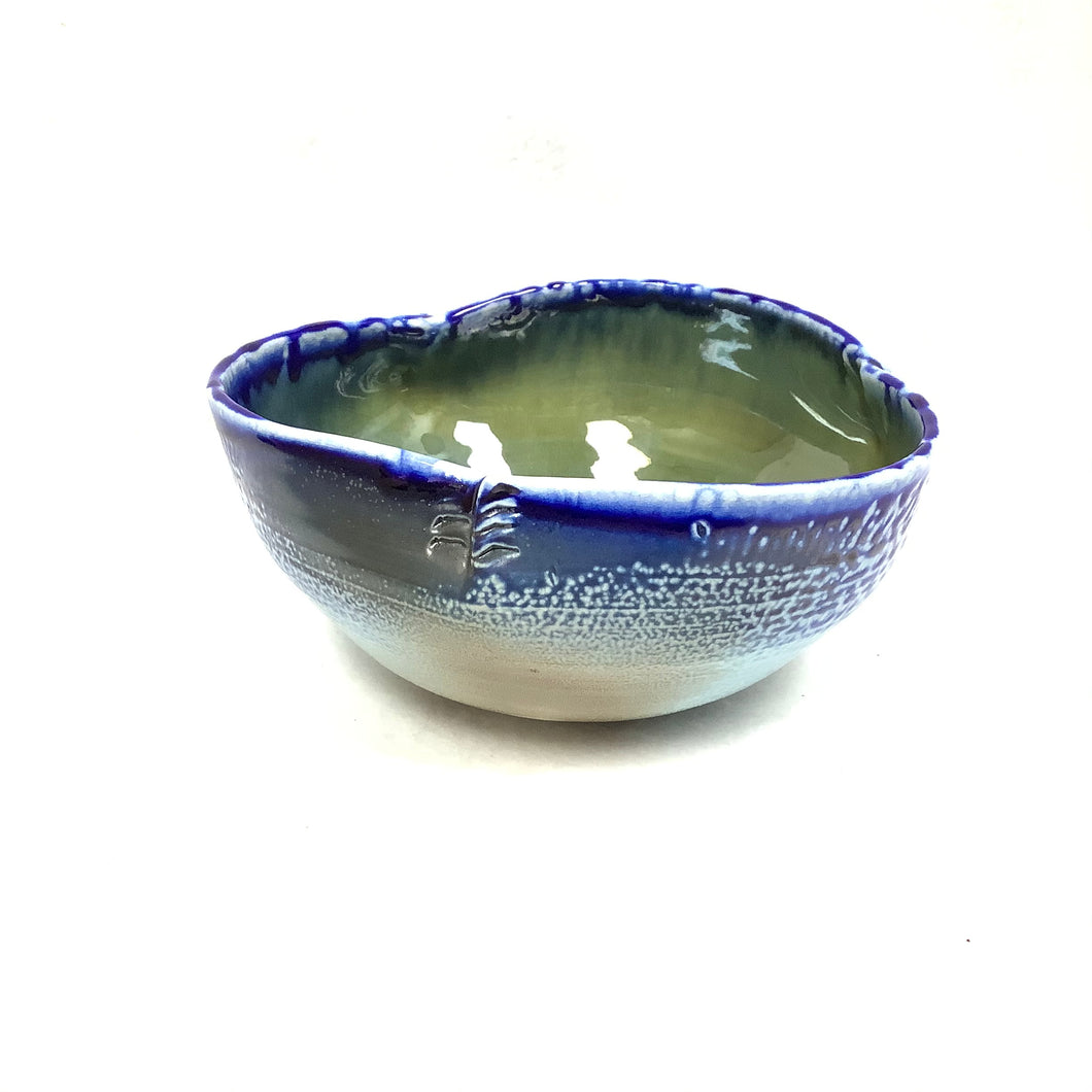 Bowl- 3 side blue