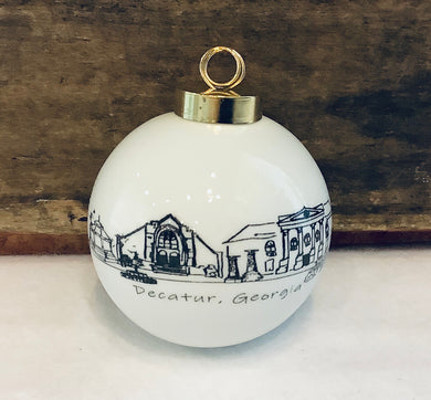 Small Round Decatur Ornament