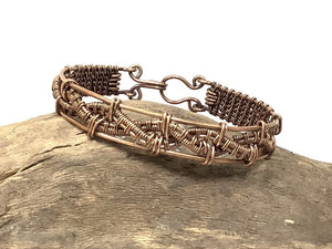 Handwoven Copper Wire Bracelet
