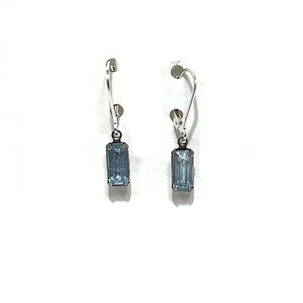 Earrings - Vintage Crystal Beads on Sterling Silver wire