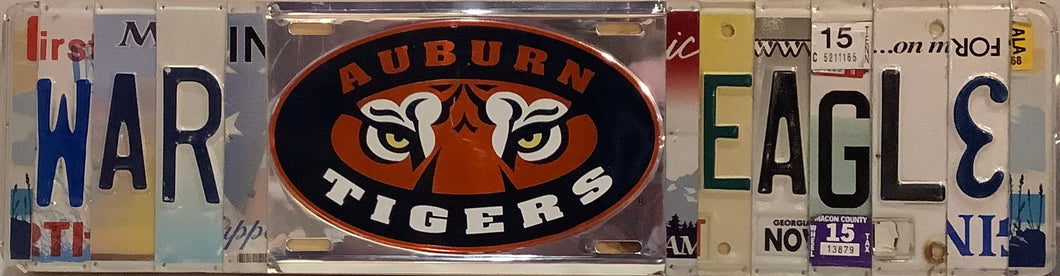War Eagle License Plate Sign