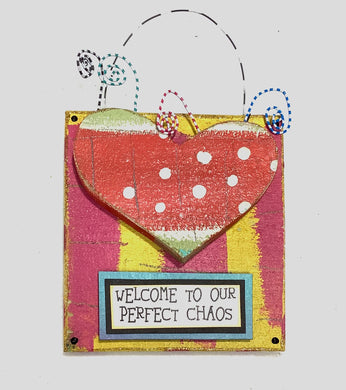 Hanging Plaque - Welcome To