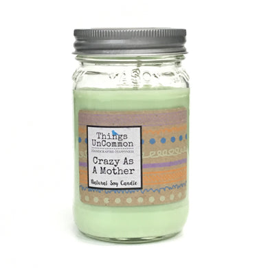 Modern Mason Candle - Crazy As A Mother
