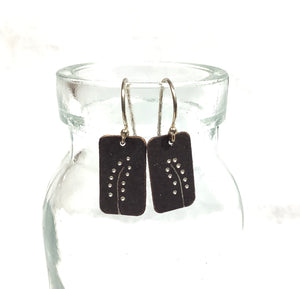 Oxidized Sterling Earrings - DOT