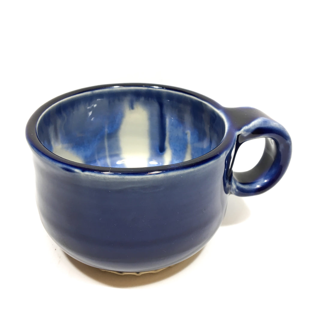Blue Ceramic Mug with mixed interior glaze