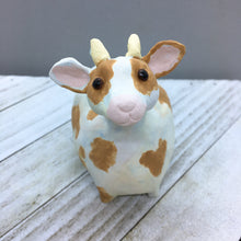 Ceramic Goat with Brown Spots