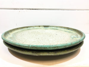Round Platter - speckled green