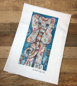 Mosaic Elephant Tea Towel