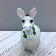 Ceramic Donkey with leaf wreath