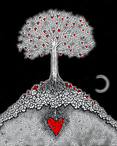 Creatures of the Heart print - Night at the Great Tree