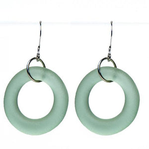 Seaglass Style Simple Earrings