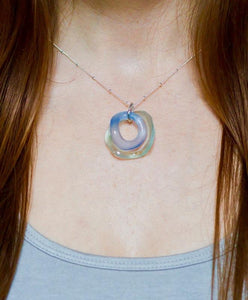 Small Wave 2 Piece Silver Necklace