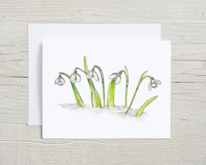 Snow Drops Greeting Card