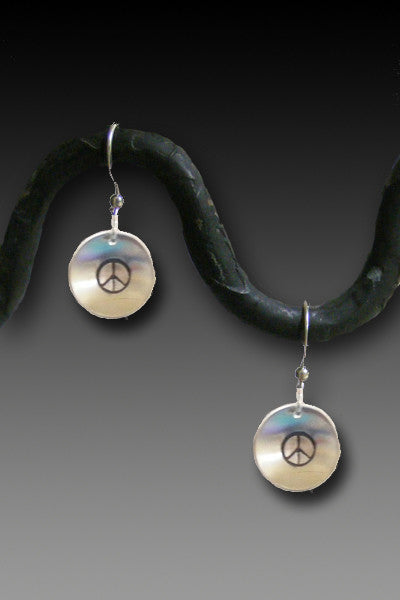 Peace earrings - sterling silver