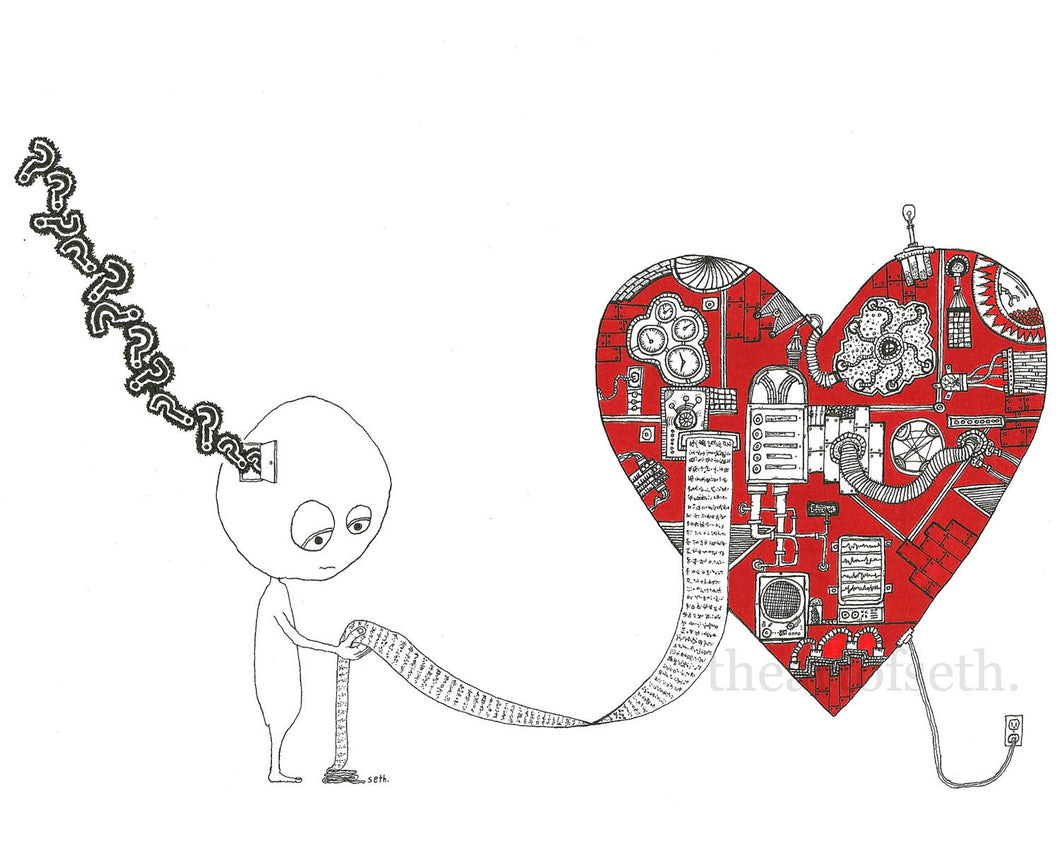 Creatures of the Heart print - Timothy wasn't sure just what to make of it