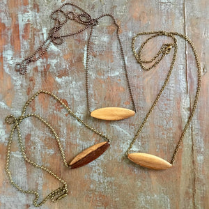 Wood Diffuser Necklace - Oblong