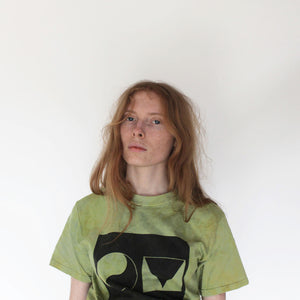 OM t-shirt green / limited edition dye collaboration