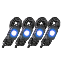 9 WATT LED ROCK LIGHT 4 POD KIT BLUE
